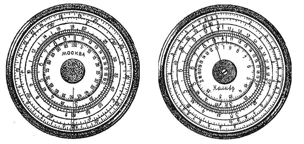 Решение пропорций на логарифмическом диске