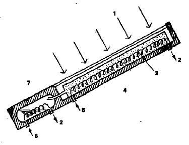 Рефрижератор, использующий в качестве источника энергии солнечное излучение