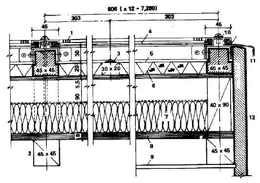 Воздушный коллектор, составляющий единый формообразующий элемент с крышей здания