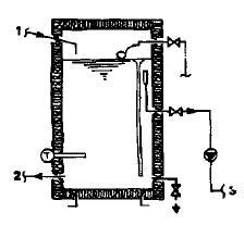 Теплоаккумуляторный бак с открытым отбором воды с непосредственным обогревом