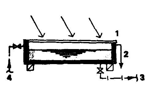 Солнечный водонагреватель в виде стационарной установки с системой периодического накачивания воды полузакрытого типа