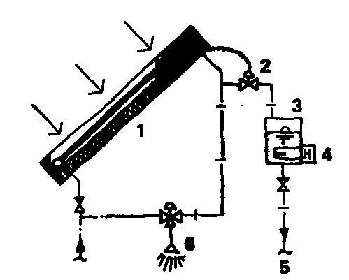Солнечная система горячего водоснабжения проточного типа