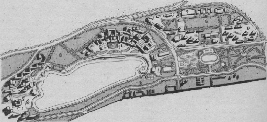 Схема Генерального плана Азербайджанского университета