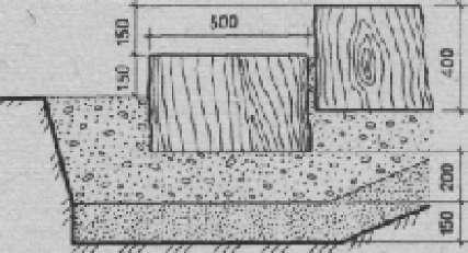 Лестница из спилов бревен