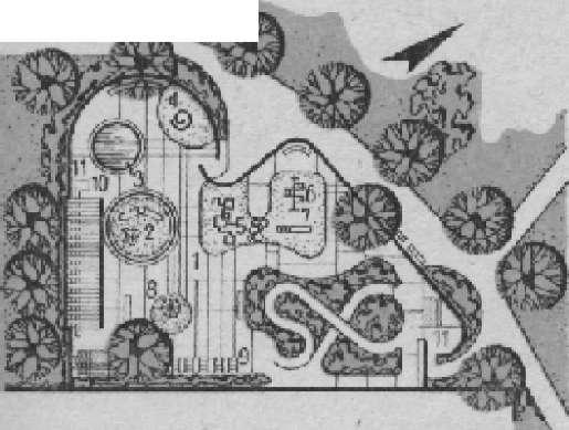 План «транспортной площадки» в Крузи-парке г. Аламеда (США)