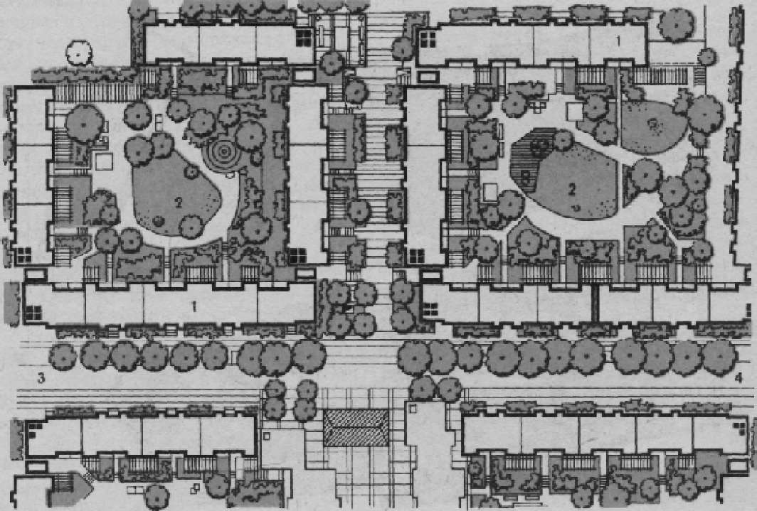 Проект застройки центрального района г. Бернау. Фрагмент