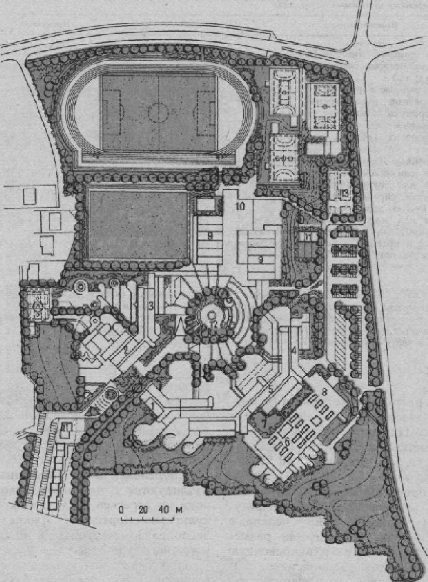 Генеральный план школьного центра в г. Кронах