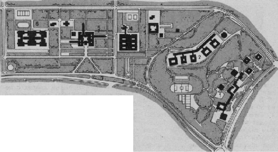 Схема размещения группы вузов на проспекте Вернадского