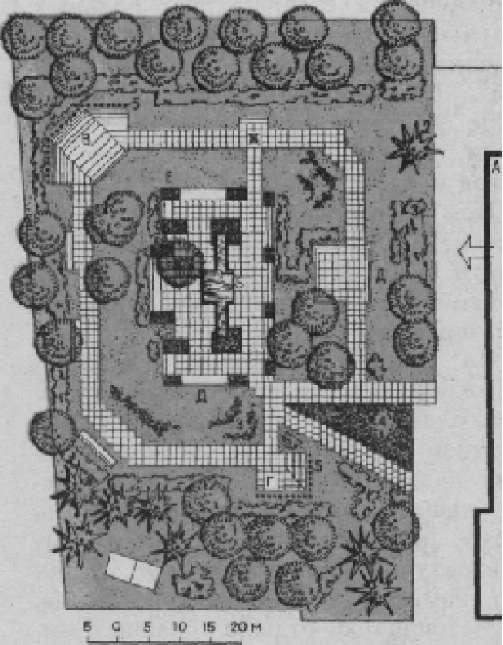 Площадка отдыха на территории больницы (авторы проекта В. В. Баулина, А. И. Пацюхов)