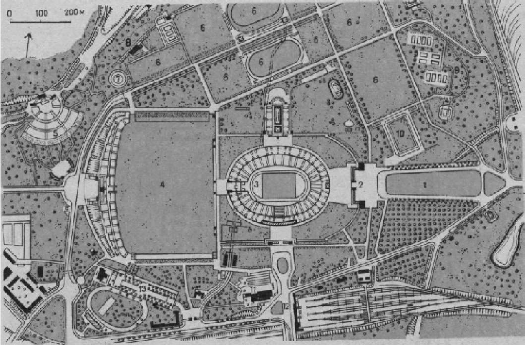 План стадиона XI Олимпийских игр в Берлине
