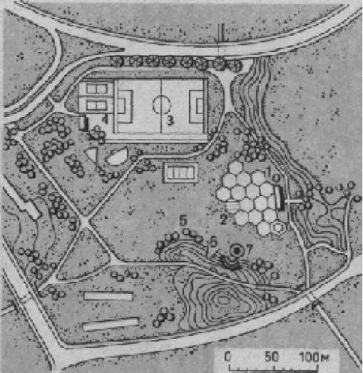 Игровой парк в жилом районе Фарсты — города—спутника Стокгольма