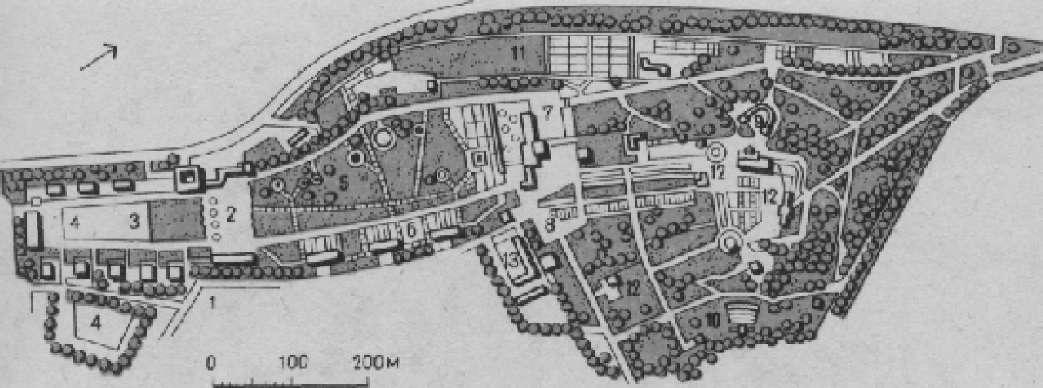 План выставочного парка Ига в Эрфурте (Германия)