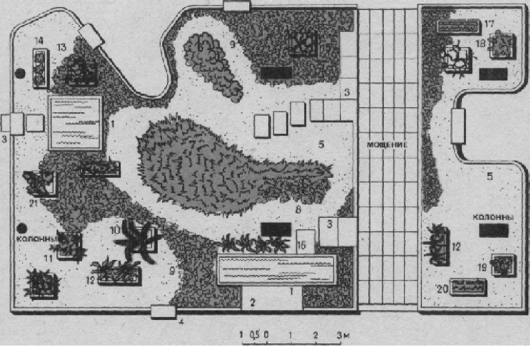 Зимний сад в гостинице «Ленинград»