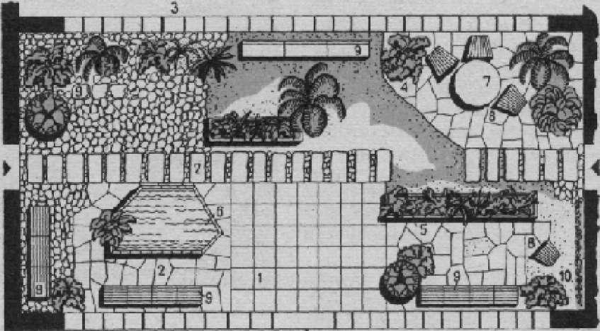 План зимнего сада на промышленном предприятии