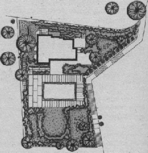 Сад на крыше дома в лигурийской Ривьере