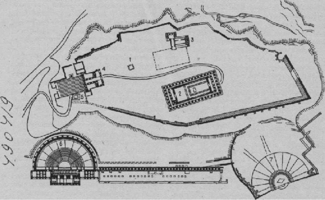 План Афинского акрополя в IV