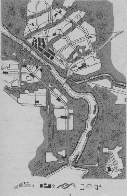 Пример непрерывной системы озелененных пространств в структуре города