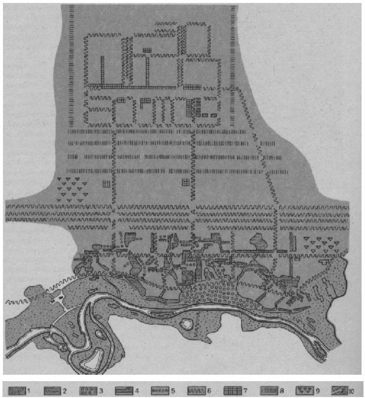 Схема перспективного построения системы открытых и озелененных пространств ядра Московской агломерации (вариант)