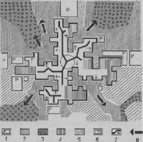 Принципиальная модель взаимосвязанной системы внутригородских и пригородных открытых пространств