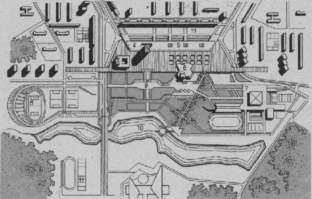 Генеральный план центра Зеленограда